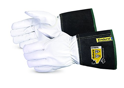 Superior 370GFKLL Precision Arc Goatskin Leather TIG Welding Glove with Kevlar Lining
