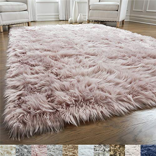 GORILLA GRIP Original Premium Faux Fur Area Rug