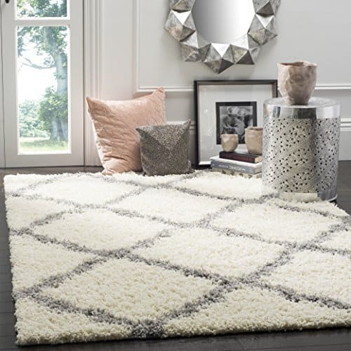 Safavieh Dallas Shag Collection SGD257F Trellis 1.5-inch Thick Area Rug