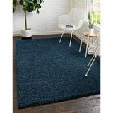 Unique Loom Solo Solid Shag Collection Rug