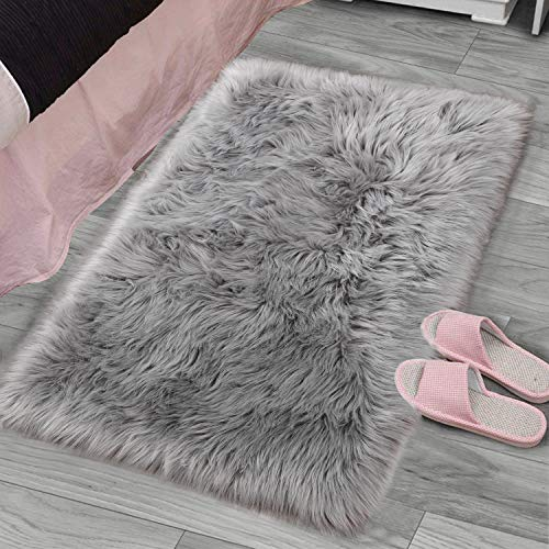 YJ.GWL Super Soft Faux Sheepskin Fur Area Rugs