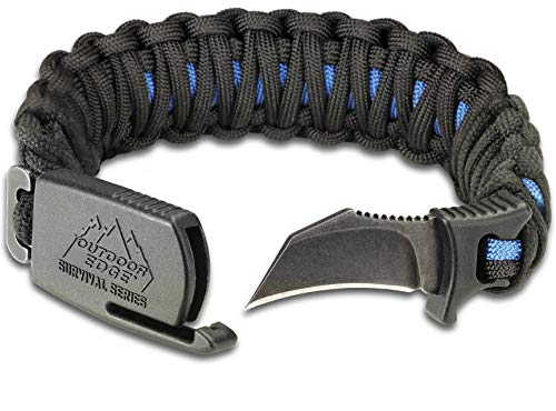 Outdoor Edge Survival Bracelet with Knife Blade
