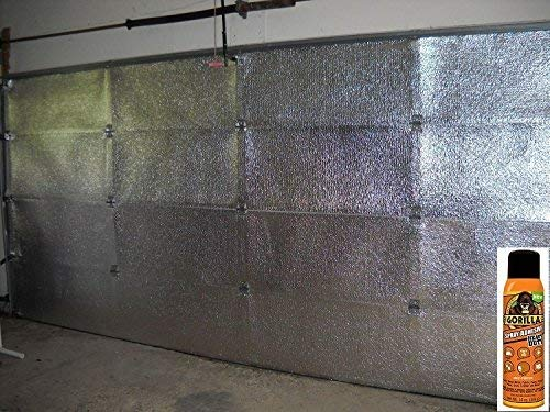 NASA TECH (Pre-cut 16 Panel) 2 Car Garage Door Reflective Insulation Kit